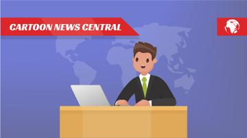 Newscaster in the Television Studio | Full Hd Video Template