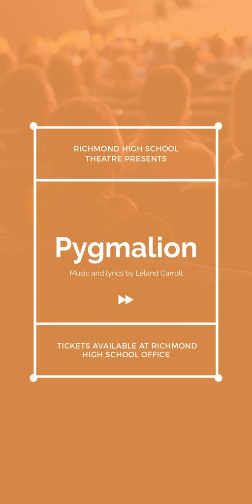 Pygmalion performance in Richmond High Theater — Create a Design
