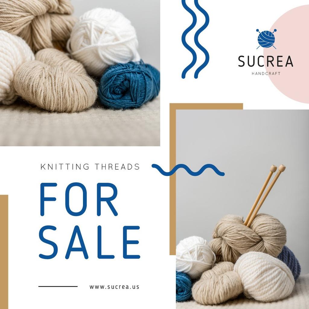 Knitting Equipment Sale Wool Yarn Skeins — ein Design erstellen