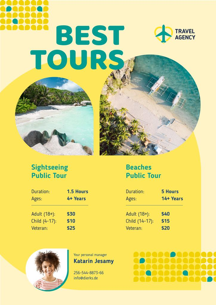 Travel Tour Offer Sea Coast Views | Poster Template — Створити дизайн