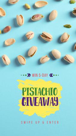 Ontwerpsjabloon van Instagram Story van Pistachio nuts snack