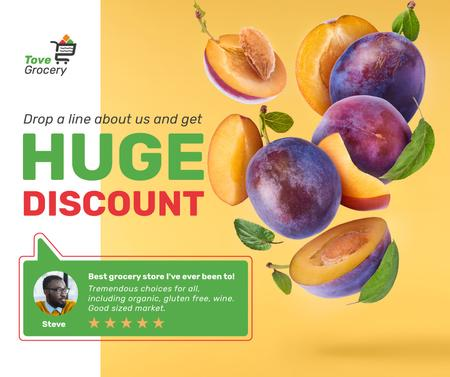 Template di design Grocery Sale fresh raw Plums Facebook