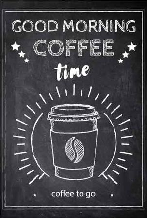 Plantilla de diseño de Coffee time chalk advertisement Flayer