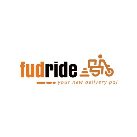 Designvorlage Delivery Services with Courier on Scooter für Animated Logo