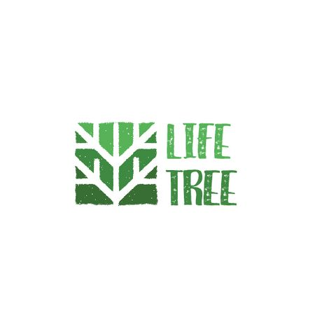 Ontwerpsjabloon van Animated Logo van Ecological Organization with Logo with Tree in Green