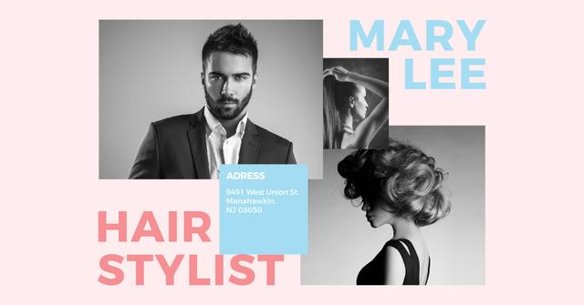 Hairstylist Offer with Stylish People Facebook AD – шаблон для дизайна