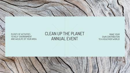 Plantilla de diseño de Ecological event announcement on wooden background FB event cover