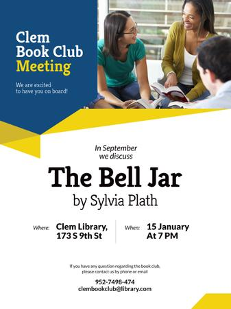 Book Club Promotion with Students Poster US Design Template