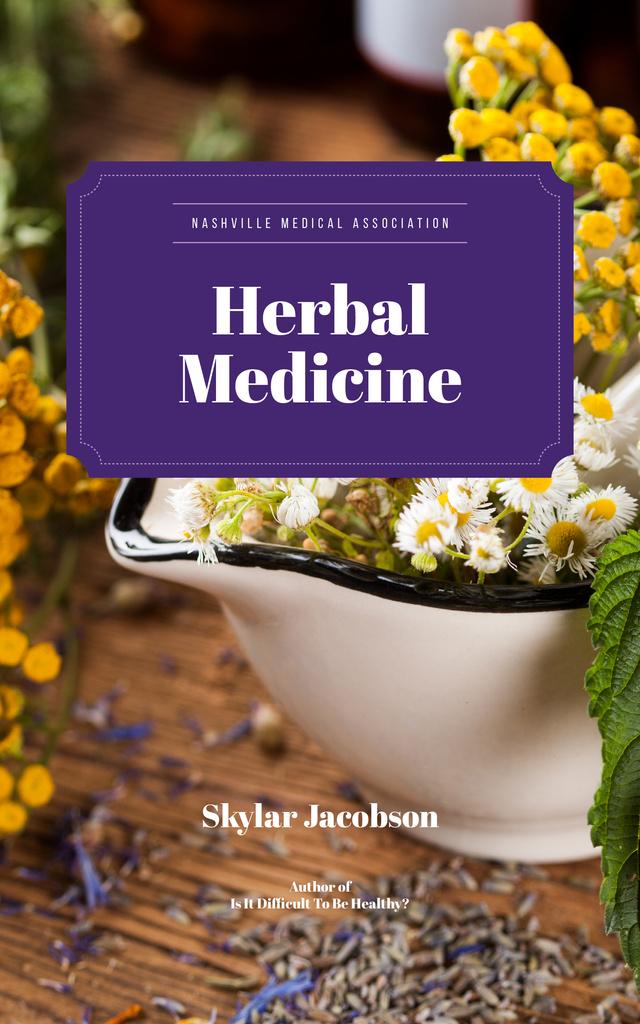Plantilla de diseño de Medicinal Herbs on Table Book Cover