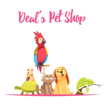 Cute pets in shop
