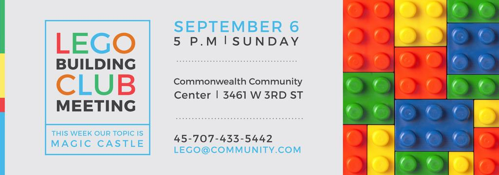 Lego Building Club meeting Constructor Bricks — Crear un diseño