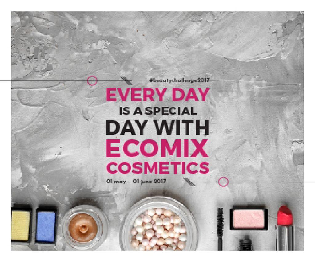 Ecomix cosmetics poster — Modelo de projeto