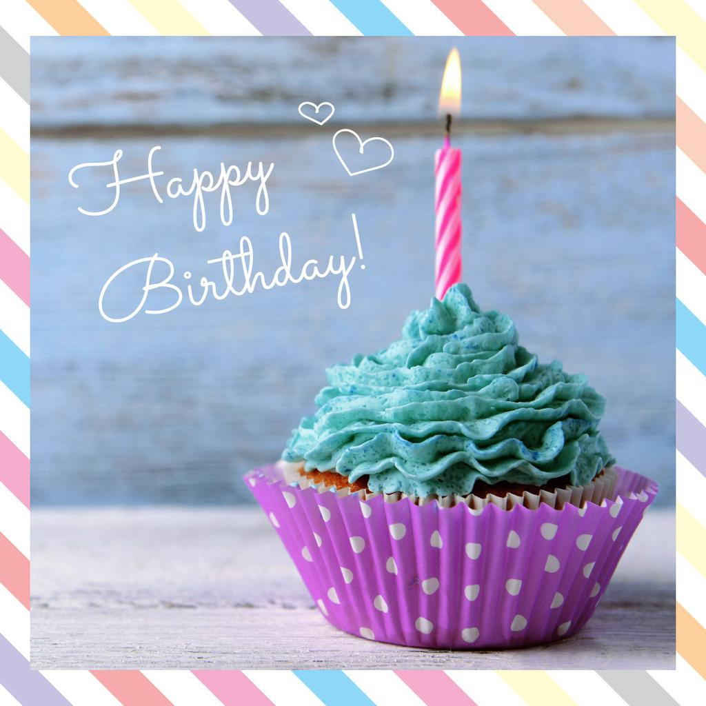 Happy birthday greeting card — Modelo de projeto