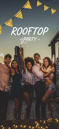 Ontwerpsjabloon van Snapchat Moment Filter van Young people an rooftop Party
