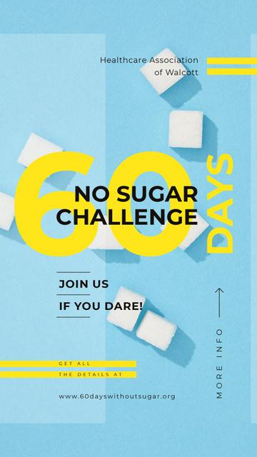 Challenge Annoucement with White sugar cubes Instagram Story – шаблон для дизайну