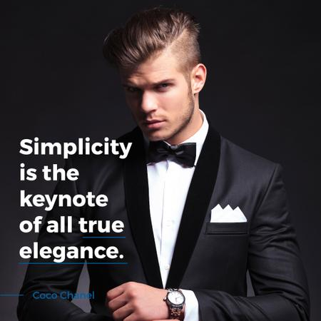 Modèle de visuel Elegance Quote Businessman Wearing Suit - Instagram AD