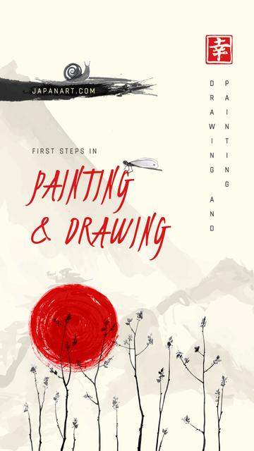 Template di design Japanese style Painting Instagram Story