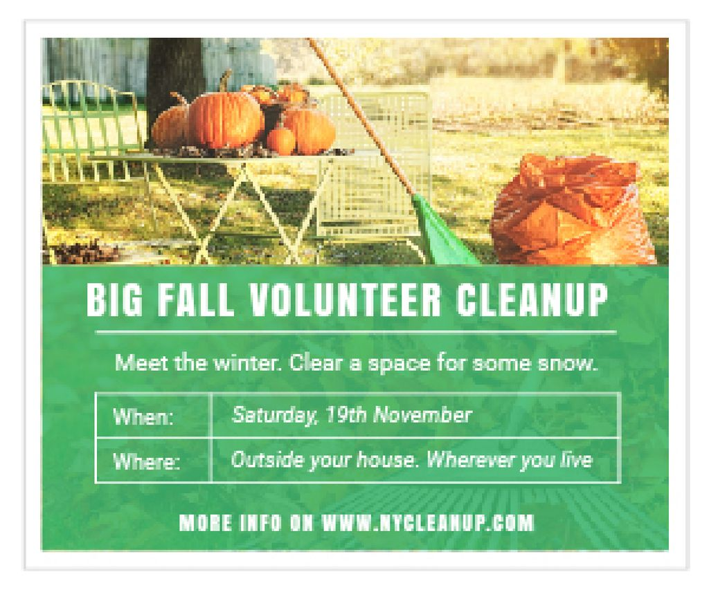 Big fall volunteer cleanup — Create a Design