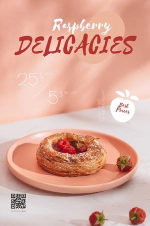 Plantilla de diseño de Sweet Bun with Berries Pinterest