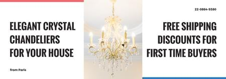 Modèle de visuel Elegant crystal Chandelier offer - Tumblr