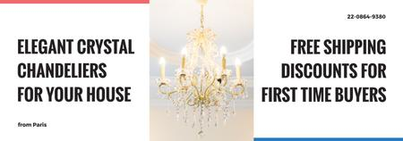 Elegant crystal Chandelier offer Tumblr Design Template