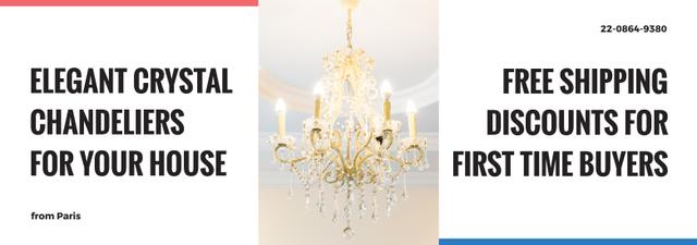 Elegant crystal Chandelier offer Tumblr Design Template