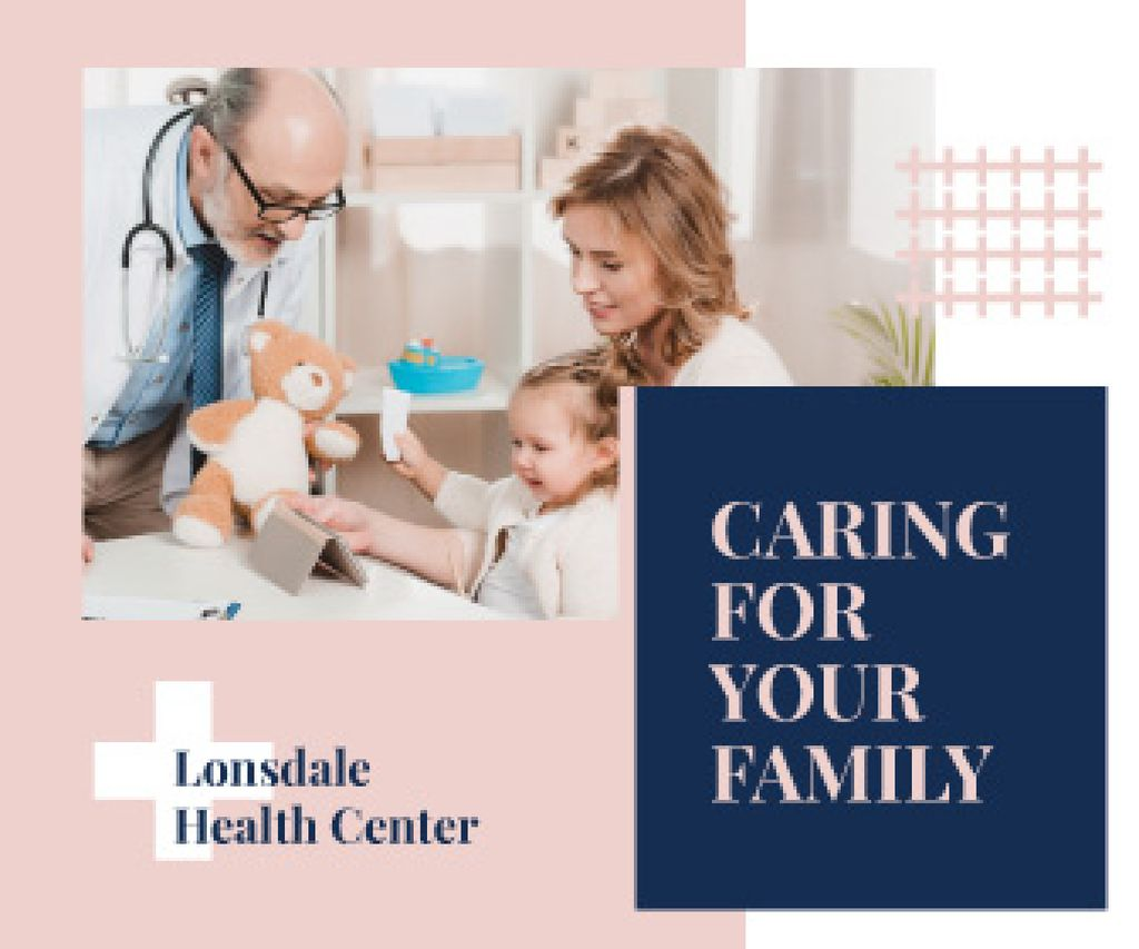 Mother and Child at the Pediatrician | Large Rectangle Template — Create a Design