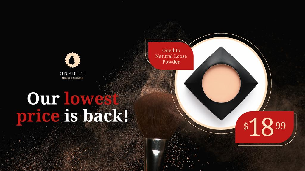 Cosmetics Sale Face Powder with Brush — Create a Design