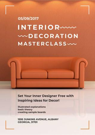 Masterclass of Interior decoration Poster Tasarım Şablonu