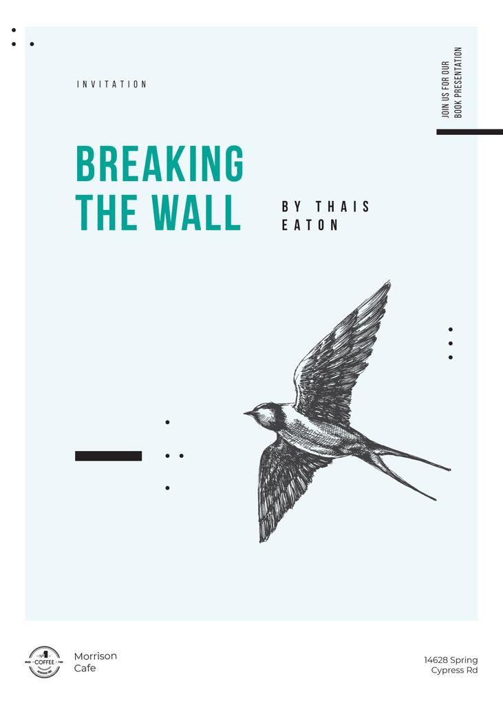 Swallow bird flying for Gallery promotion — ein Design erstellen
