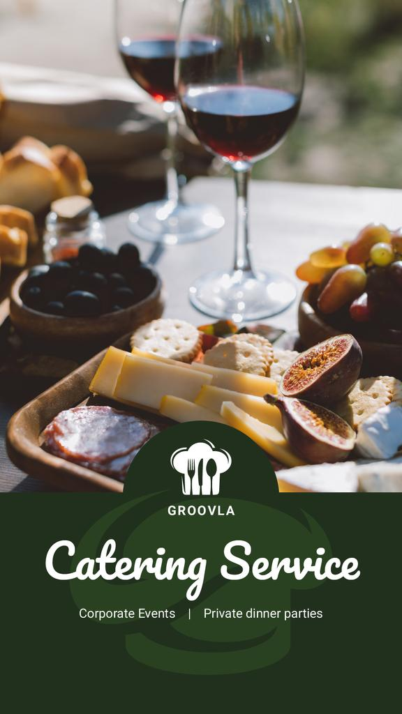 Catering Services Ad Wine and Cheese Plate — Створити дизайн