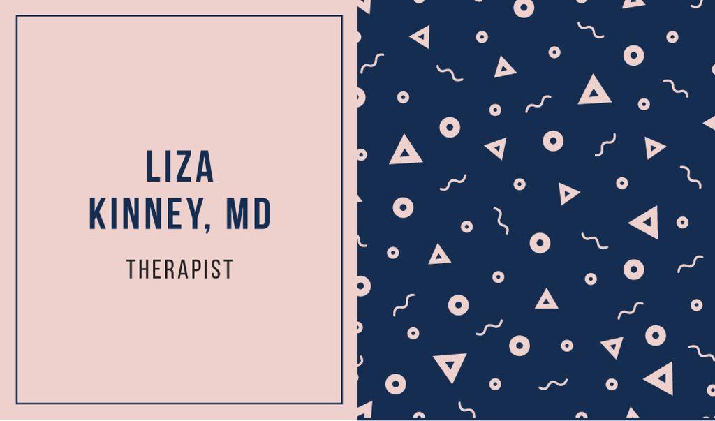 Therapist Ad Bright Memphis Pattern | Business Card Template — Створити дизайн