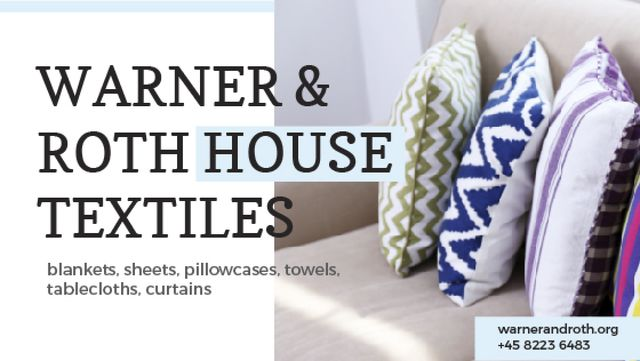 Template di design Home Textiles Ad Pillows on Sofa Title