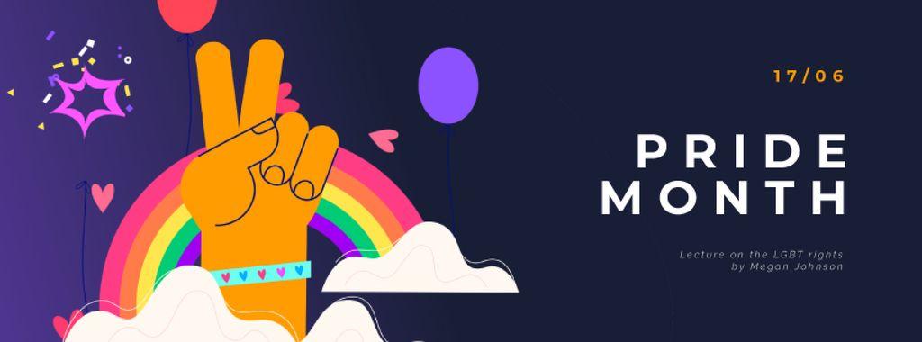 Pride Month Hand Gesturing over Rainbow — Modelo de projeto