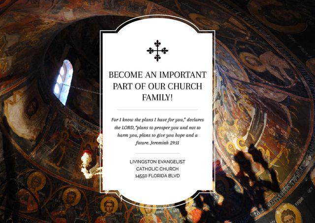Livingston Evangelist Catholic Church Card – шаблон для дизайна