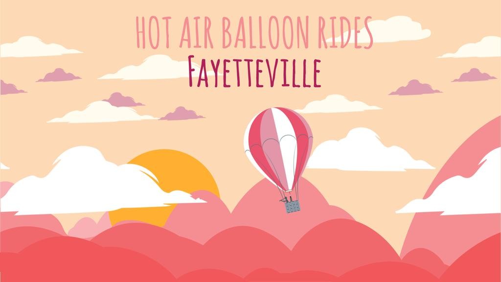 Hot Air Ballon Flying Adventure — Maak een ontwerp