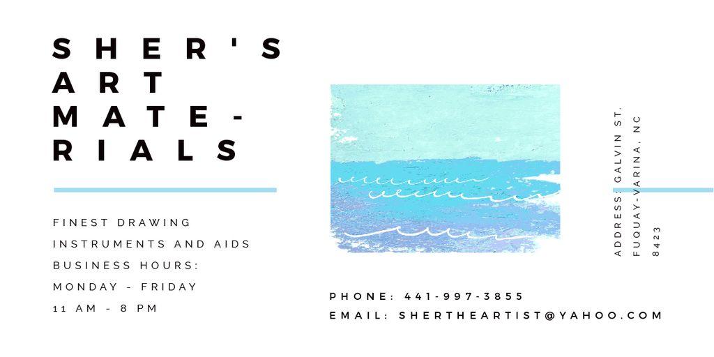 Sher's Art materials shop — Crear un diseño