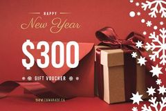 New Year Gift Box in Red