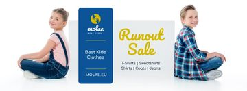 Kids Clothes Sale with Children in Pretty Outfits
