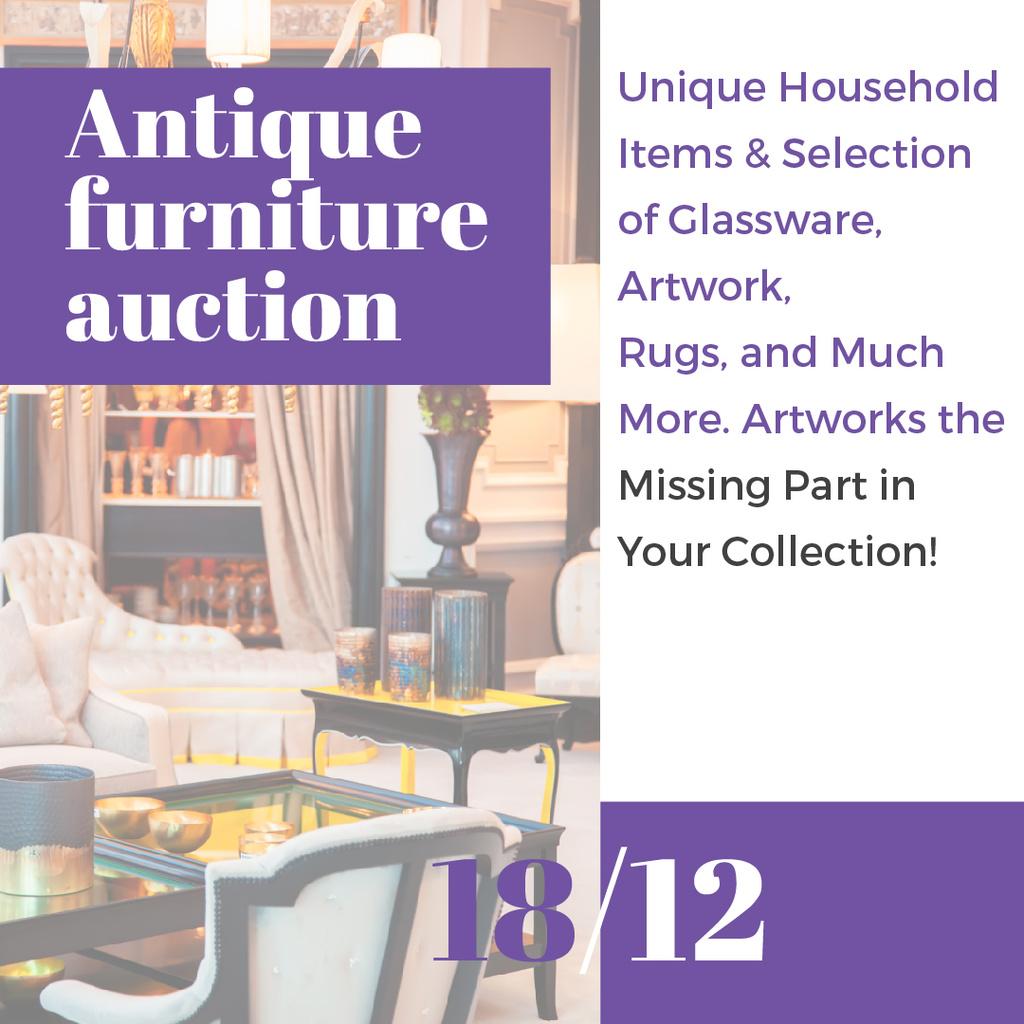 Antique Furniture Auction — Maak een ontwerp