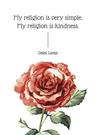 Ontwerpsjabloon van Flayer van Religion Inspirational quote with rose