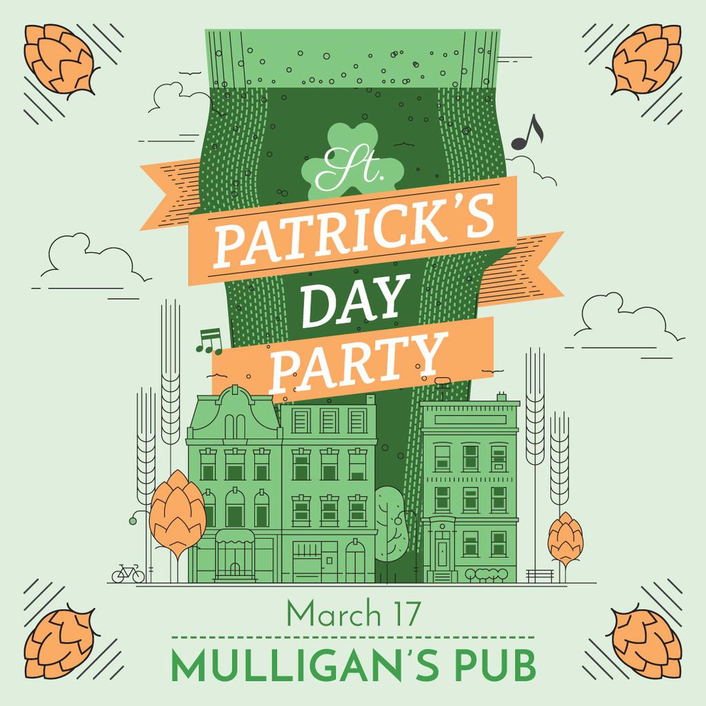 St. Patrick's day greeting card - Bir Tasarım Oluşturun