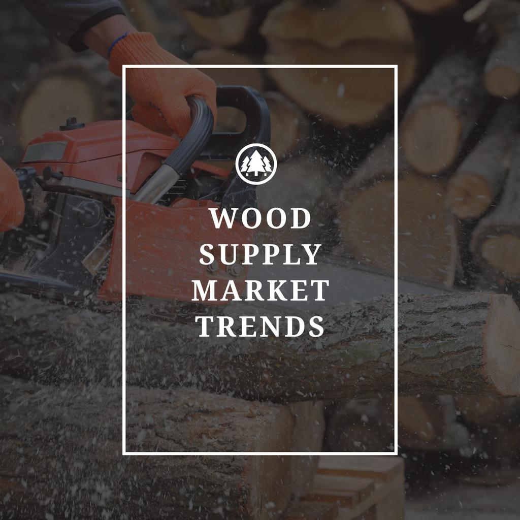 Wood supply market trends poster — Create a Design