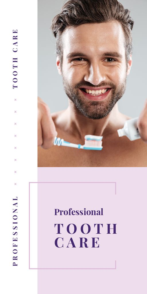 Man brushing his teeth — Create a Design