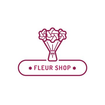 Florist Services Ad Beautiful Bouquet | Logo Template