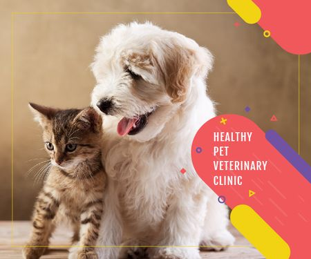 Healthy pet veterinary clinic Medium Rectangle – шаблон для дизайна