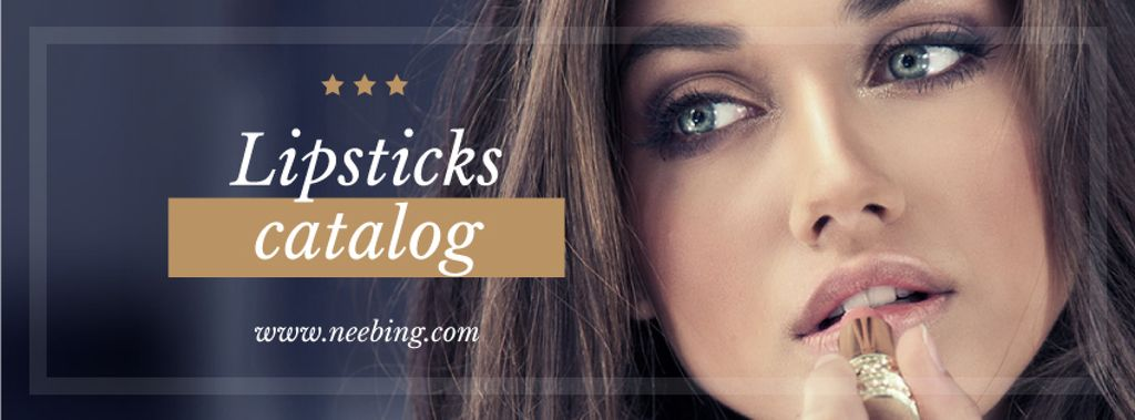 Lipstick Offer with Woman painting lips — Maak een ontwerp