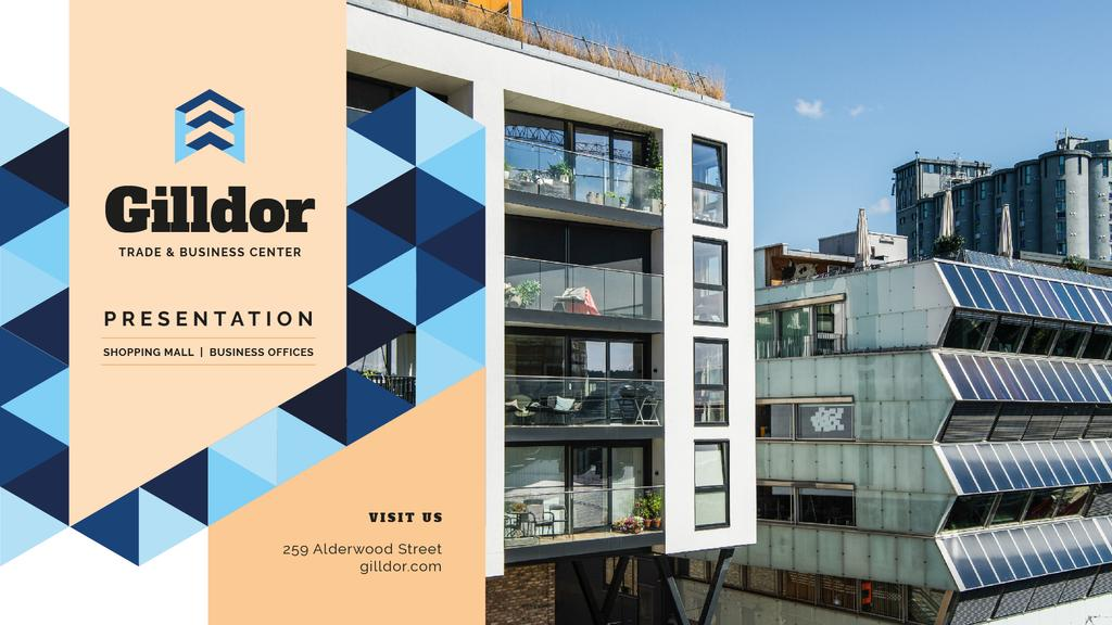 Real Estate Ad Modern Glass Houses — Créer un visuel