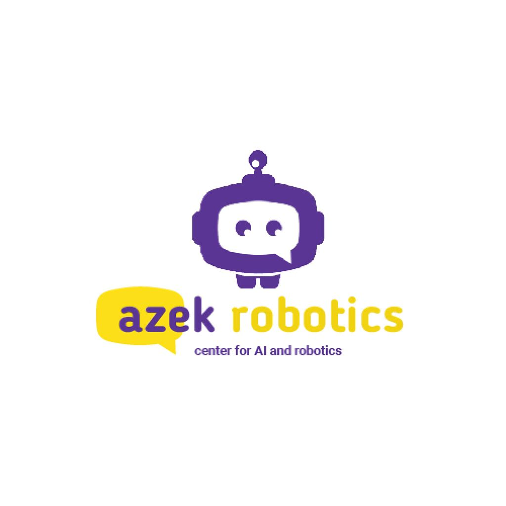 Robotics Center Ad with Cute Android — Crea un design