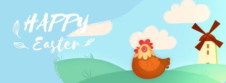 Designvorlage Hen laying Easter egg für Facebook Video cover